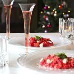 とっておきのクリスマスレシピ「ビーツのリゾット」シャンパンの香りを添えて