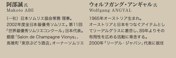 阿部誠氏とウォルフガング・アンギャル氏
